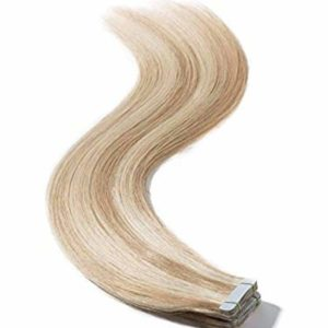 Tape-in-blonde-hilited-human-hair-extensions